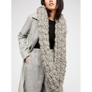 Free People Chunky Knit Cowl Scarf, Gray, One Size